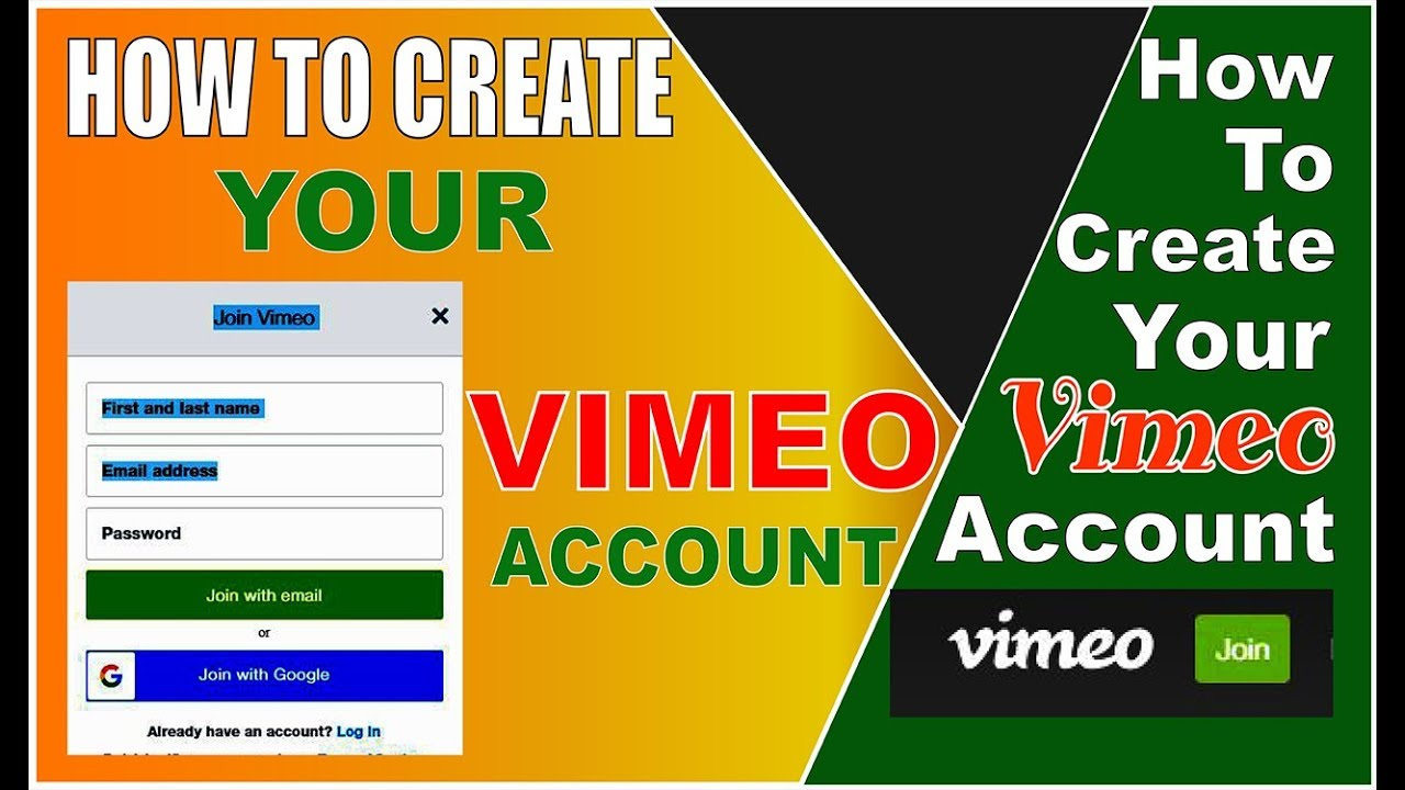 How To Create || Your Vimeo Account ||-2019