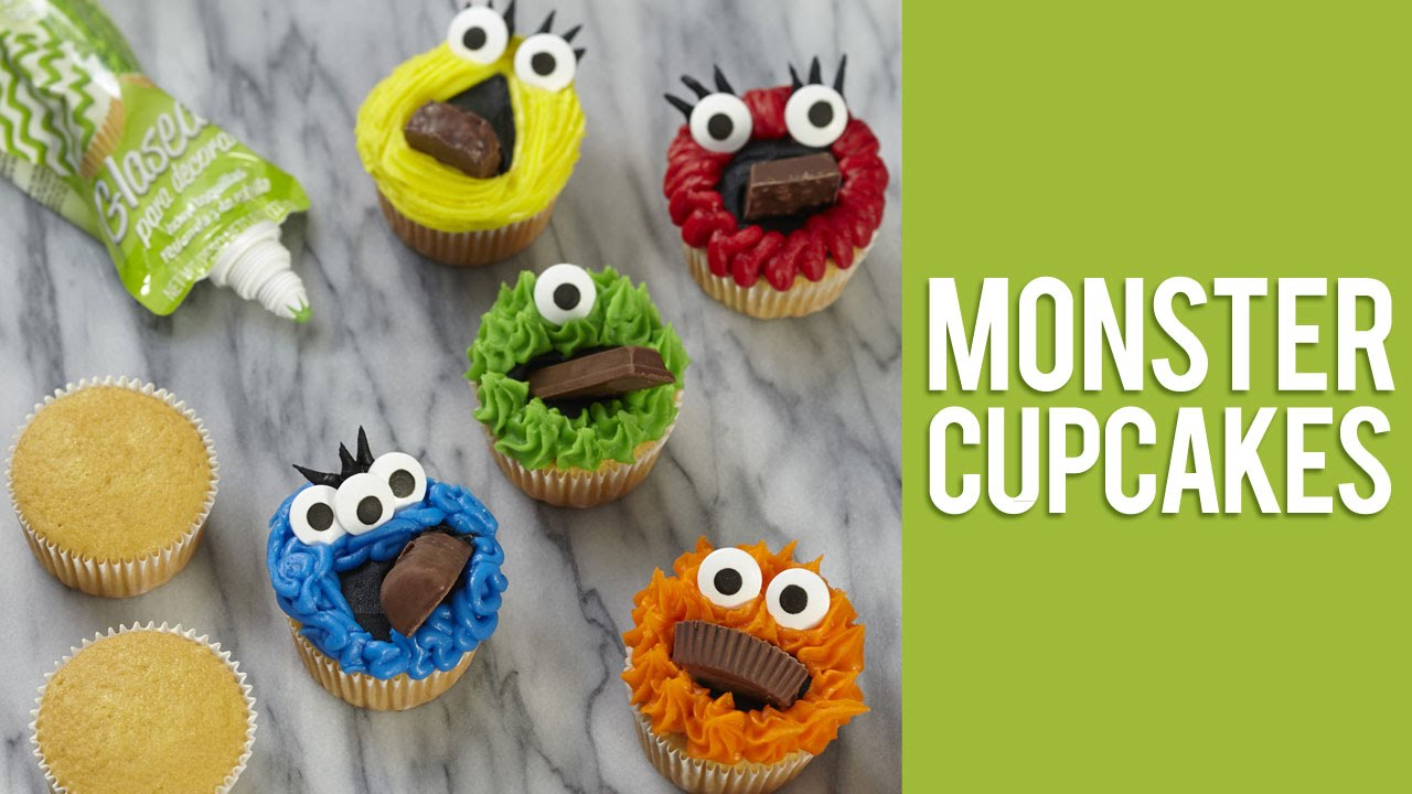 quick easy monster cupcakes