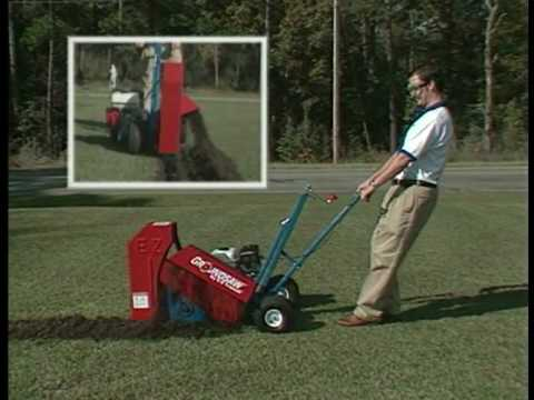 E Z Trench Groundsaw Mini Trencher Youtube