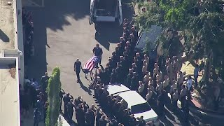 LIVE: Procession held for LAPD officer killed in Lincoln Heights double shooting | ABC7