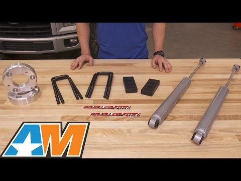 """2015-2016 F-150 Rough Country 2.5"""" Leveling Lift Kit w/ Shocks Review & Install"""