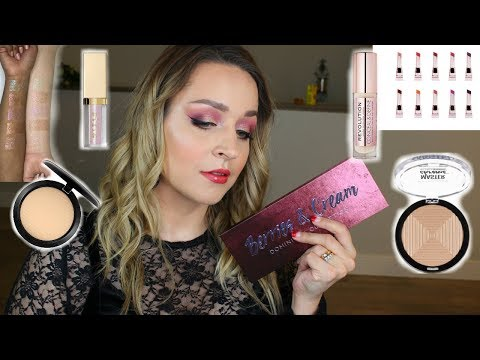 Trying New Makeup GRWM: Dominique Cosmetics Berries & Cream Palette thumbnail