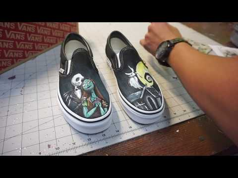 Nightmare Before Christmas Shoes Diy.Nightmare Before Christmas Vans Youtube