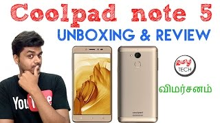 Coolpad note 5 Unboxing amp Review Tamil Tech
