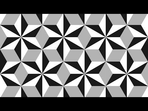 Geometric shapes design - Coreldraw Tutorials - black and white - 03