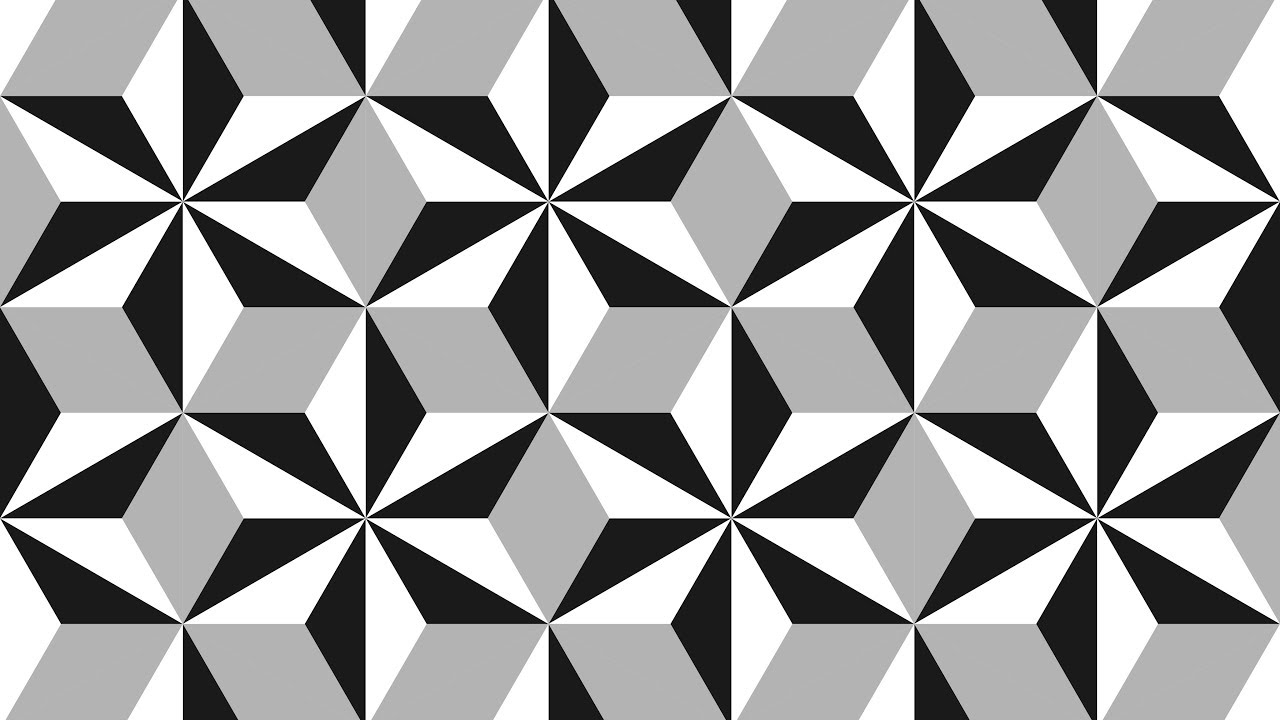 Geometric shapes design - Coreldraw Tutorials - black and white ... for Geometric Shapes Design Black And White  56mzq