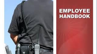 Employee Handbook for Security Company   Editable Employee Handbook