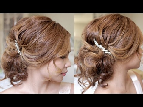 Shinion Hair Style Romantic Summer Wedding Updo Hair Tutorial  Youtube