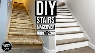 DIY Stairs Makeover for Under $200 with Full Cost Breakdown!!