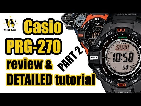Casio PRG 270 - Module 3415 - Review And A Detailed Tutorial On How To Setup And Use All Functions