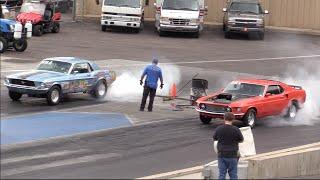 1969 Mustang vs 1967 Mustang Drag Race