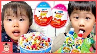킨더조이 뽀로로 구슬 아이스크림 꾸러기 유니 미니 먹방 심부름 놀이 ♡  똘똘이 인형 요리 카트 장난감 kinder joy toy | 말이야와아이들 MariAndKids