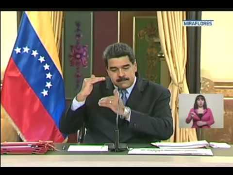Maduro anuncia medidas de disciplina fiscal y aumenta IVA de 12 a 16 por ciento