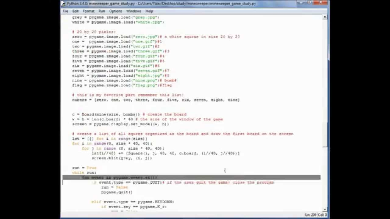 how to create a game in python