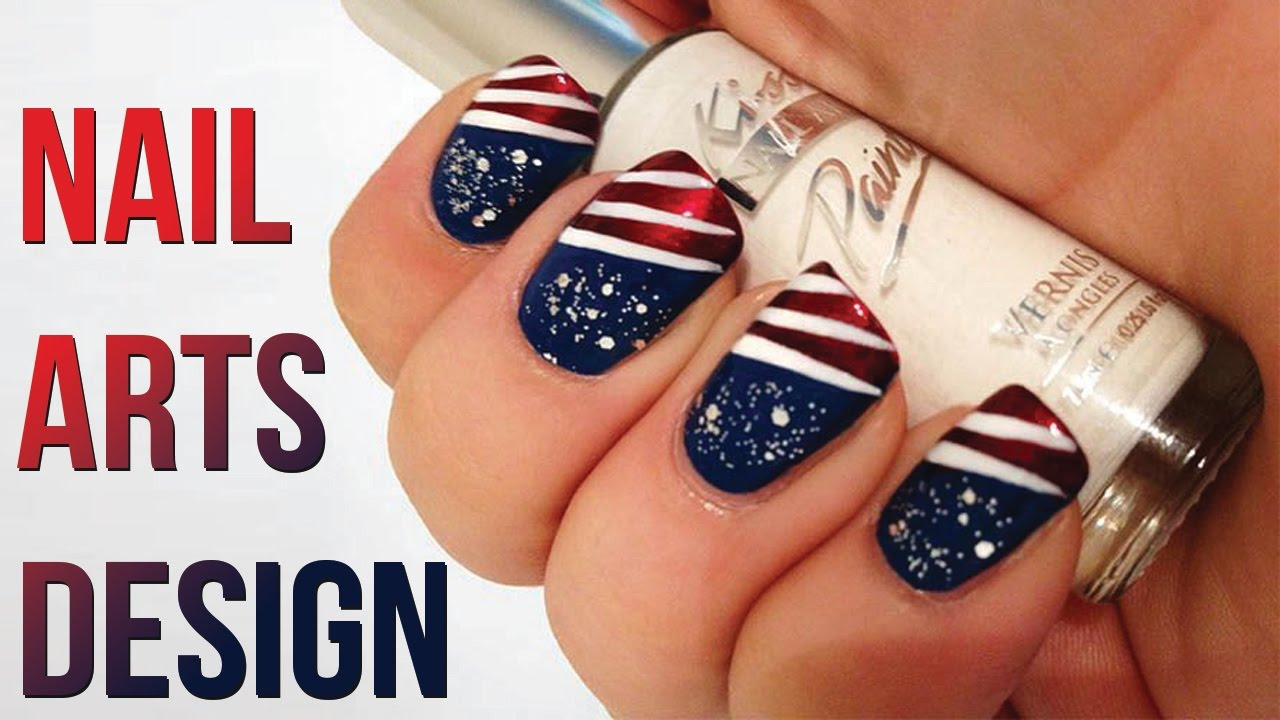Nail Art Design | USA Nail Art Design 2017 | How To Art USA Flag on Nail - Nail Art Design USA Nail Art Design 2017 How To Art USA Flag On