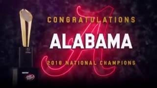 Congratulations 2017-18 National Champions - Alabama Crimson Tide (HD)