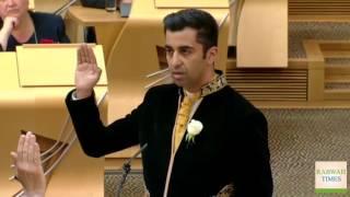 Pakistan-origin politician Humza Yousaf takes Scottish parliamentary oath in Urdu