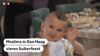 Suikerfeest door moslims in Nederland volop gevierd
