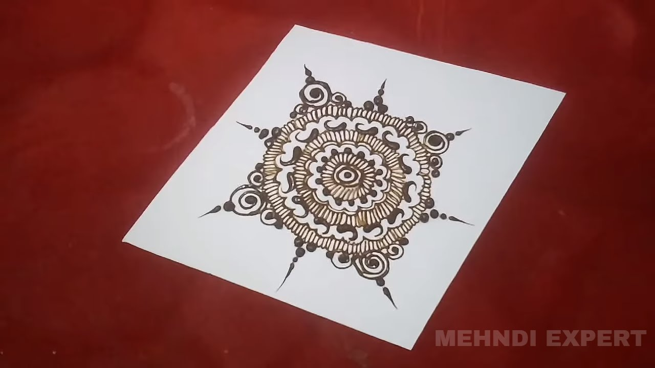 Mehndi Design Pattern On Paper 2 Step By Step Tutorial Youtube