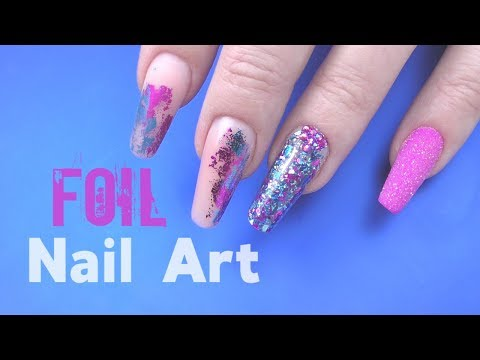 Foil Nail Art Tutorial Without Glue