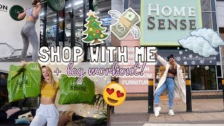 COME TO HOMESENSE SHOPPING WITH ME + HAUL! & LEG DAY *CHRISTMASSY*