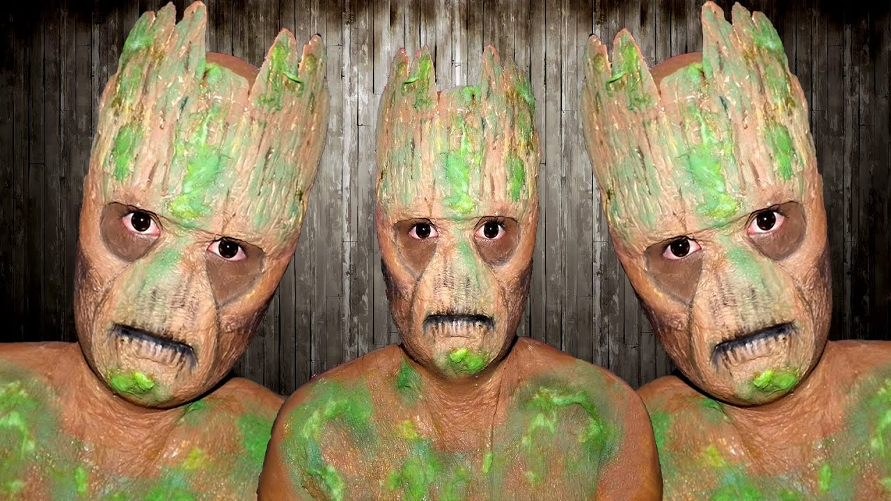 Guardians Of The Galaxy Groot Makeup Tutorial Youtube