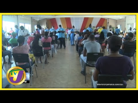 Day 2 of Jamaica's Islandwide Vaccine Blitz   TVJ News - August 1 2021
