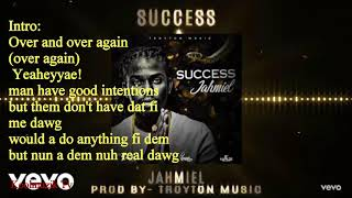 Jahmiel- Success  (Official Lyrics)