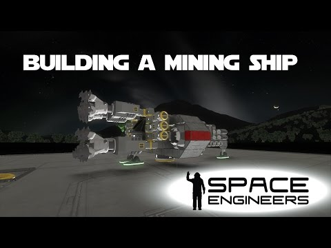 Space Engineers Planet Survival Ep 12 - Building My First Mining Ship