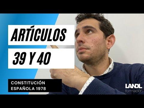 Artículos 39 y 40. Principios Rectores. Constitución Española
