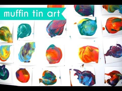 Collaborative Muffin Tin Print Art