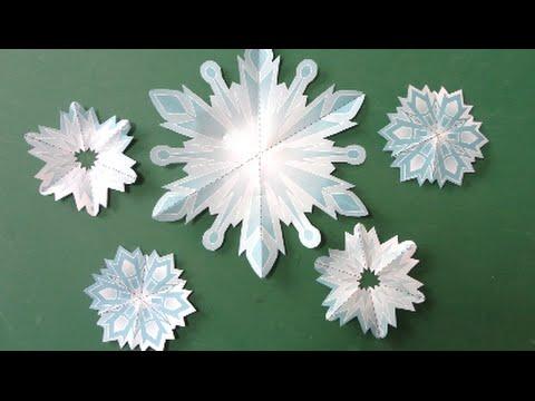 達?蔵達??辿?捉 辿?捉達?速巽袖?脱?其達?速脱??達??巽卒? Frozen Snow crystal Origami - YouTube