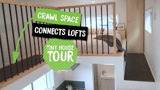 Tiny House With Crawl Space To Connect Lofts | Dance Tiny House | Nz