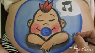 Belly Painting con una dolce mammina