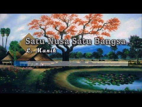 [Karaoke] ♬ L. Manik - Satu Nusa Satu Bangsa ♬ +Lirik Lagu [PIANO]