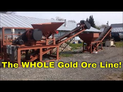 MBMMLLC.com: Complete Gold Ore Processing Line: Jaw Crusher Hammer Mill and Shaker Table