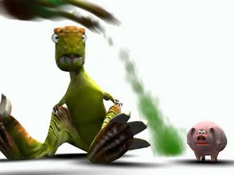 Dinosaurs vs Pig
