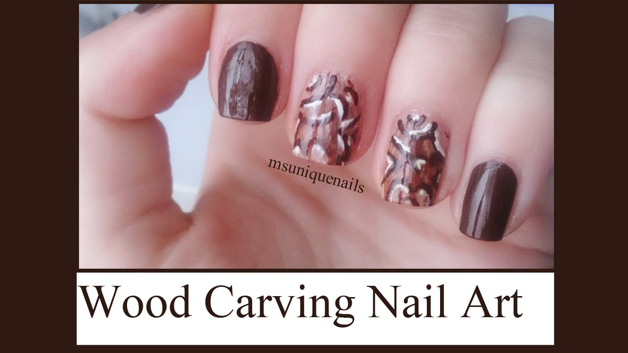 Wood Carving Nail Art! - YouTube