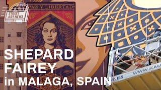 shepard fairey obey giant paz y libertad malaga spain