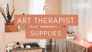 Art Therapist Art Supply and Art Desk Tour