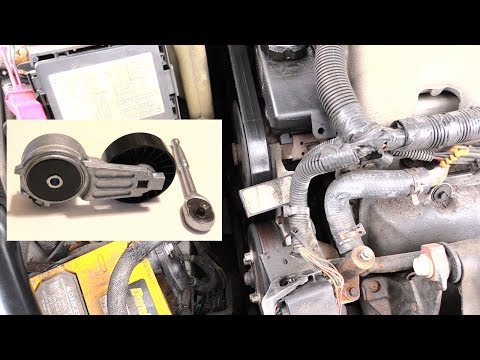 Belt Tensioner Pulley- How to Replace! Quick and Easy Chevy-GM