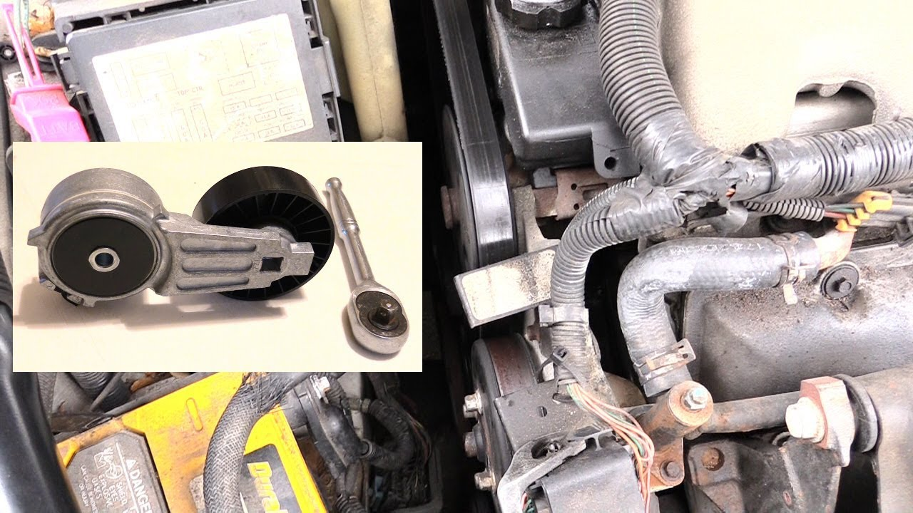 how to replace belt tensioner pulley