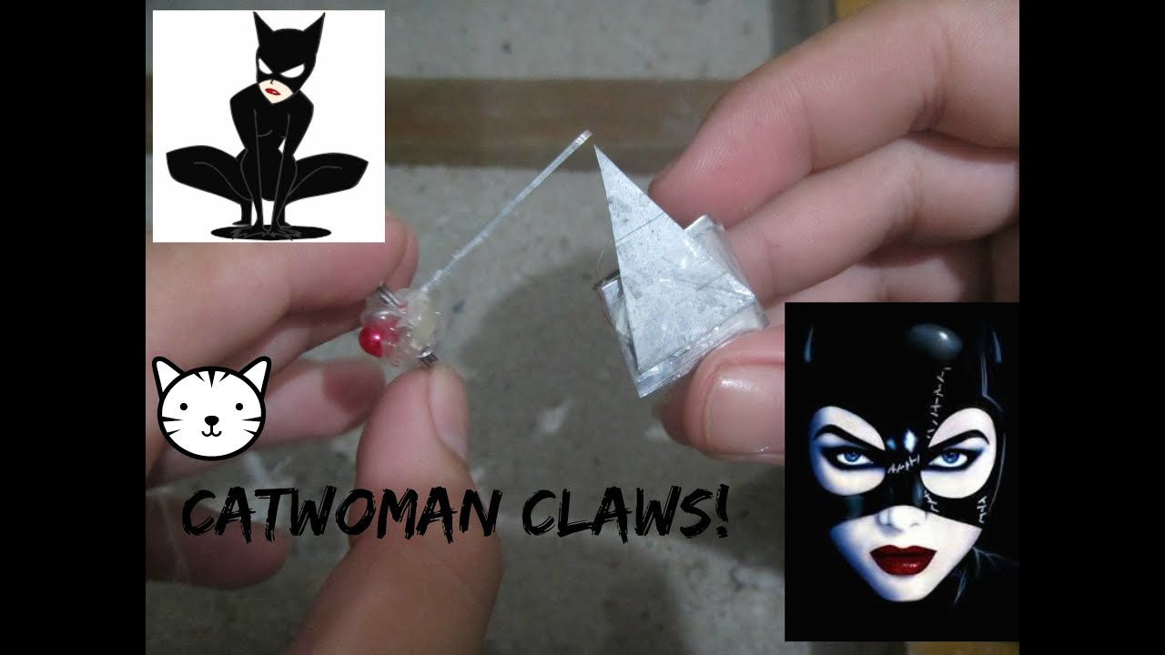 How To Make Catwoman Claws Cosplay Weapon Youtube