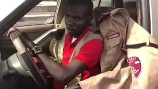 Drunk Road safety officer causes accident in in Lagos