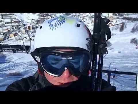 Les 2 Alpes Ski Resort (Les Deux Alpes) Ski Lift Ride