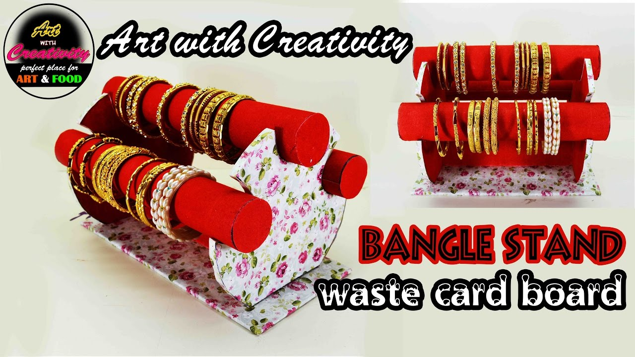How to make bangle stand | Easy steps | DIY | Art with Creativity ...
