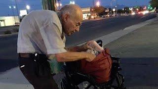 Никто не обращал внимание на старика, сидящего на улице, пока с ним не заговорила женщина