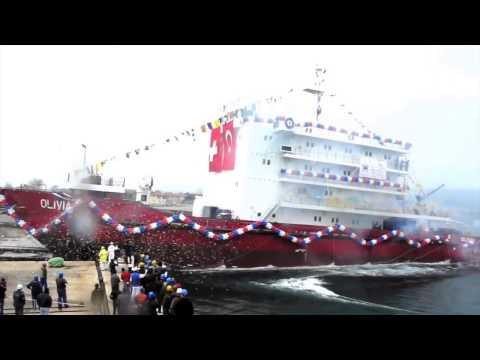 "Launching of ""Olivia""  - 29 03 2014 - Gelibolu Shipyard"