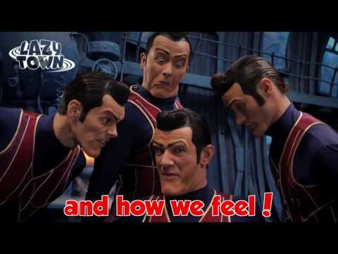 We Are Number One but it's the original, backwards, and with lyrics