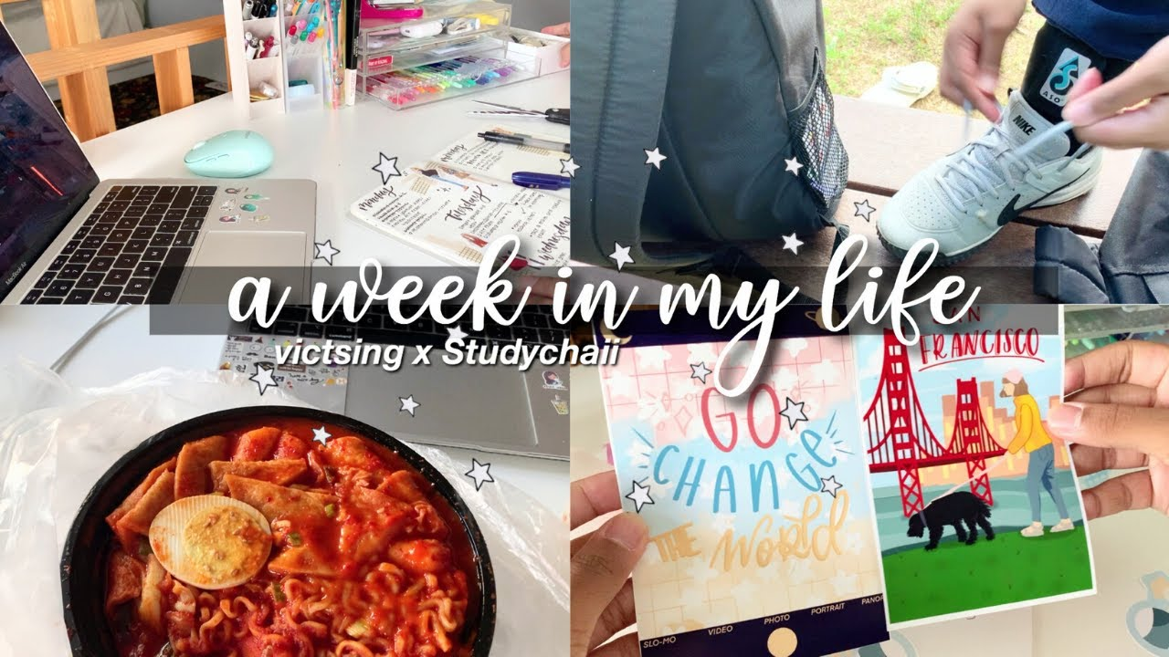 a week in my life: studying, playing volleyball, & unboxing packages